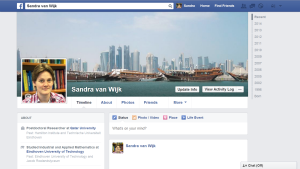 My profile on Facebook (friends only)